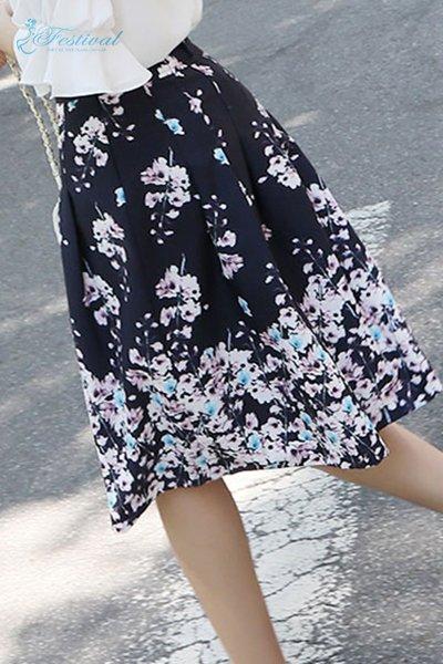 Set Áo Kiểu Cổ Thuyền Chân Váy Hoa - Ảnh 4