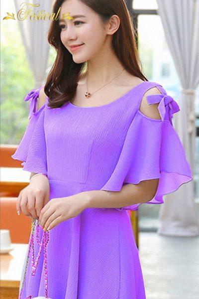 Thời trang màu tím lavender mùa hè