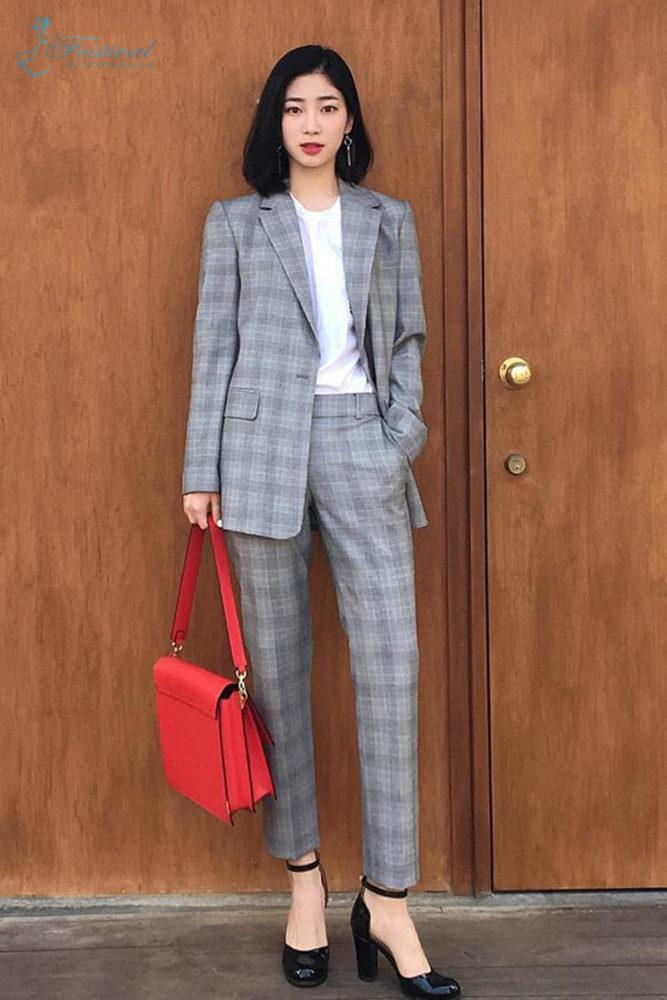 Áo blazer hoặc bộ suit - Mix Đồ Công Sở Mùa Thu 2018 - Ảnh 2