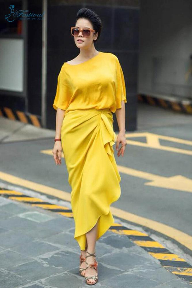 Chân váy quạt quấn thời thượng - Ảnh 1 - Thời trang dạo phố thu đông 2018