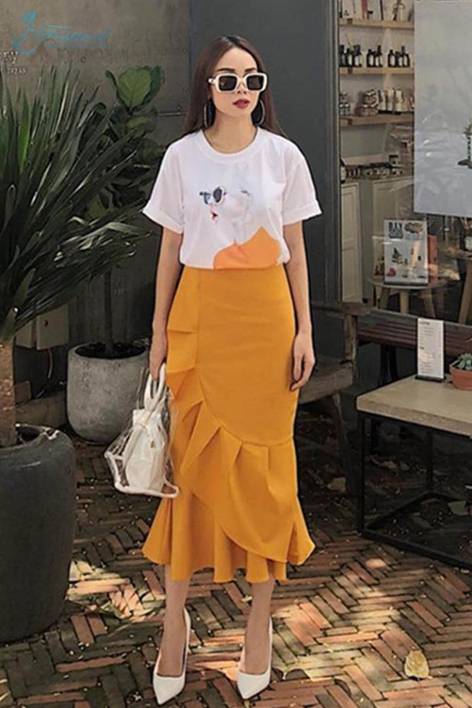 Chân váy quạt quấn thời thượng - Ảnh 3 - Thời trang dạo phố thu đông 2018