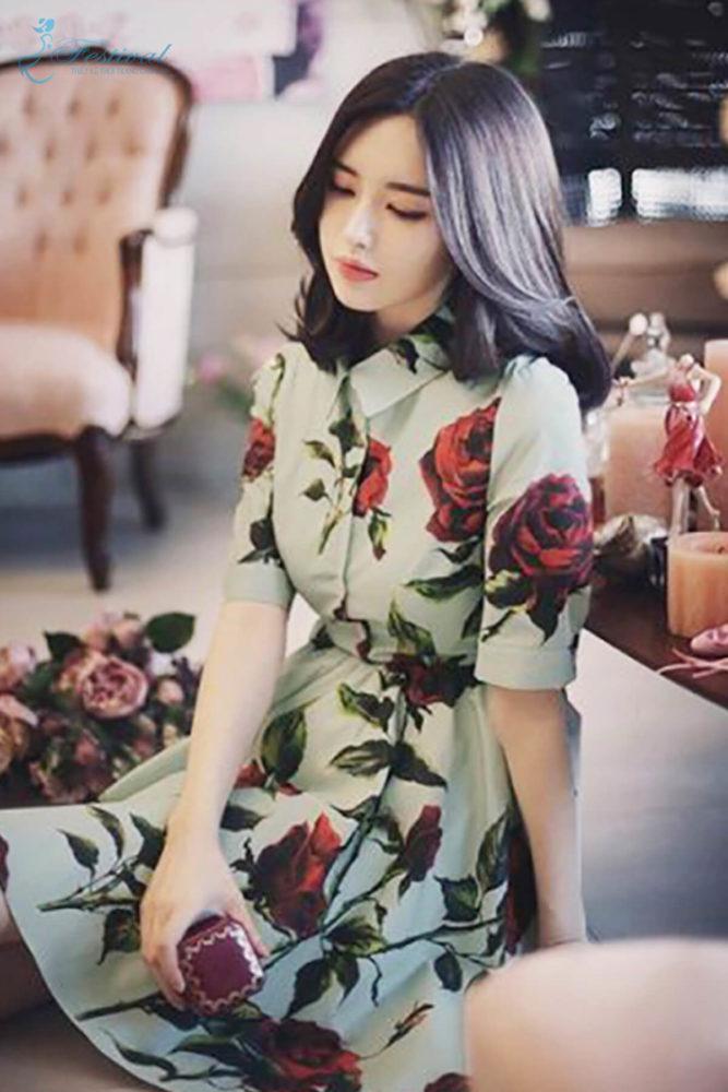 Những kiểu váy hoa khiến nàng công sở lãng mạn trong mùa thu - Ảnh 3