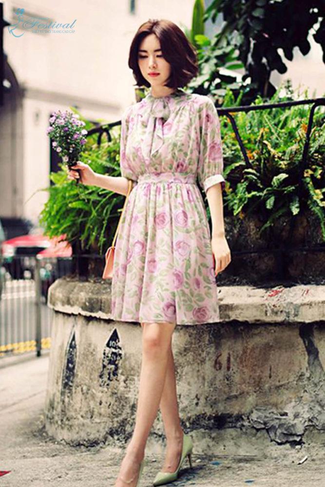 Những kiểu váy hoa khiến nàng công sở lãng mạn trong mùa thu - Ảnh 7