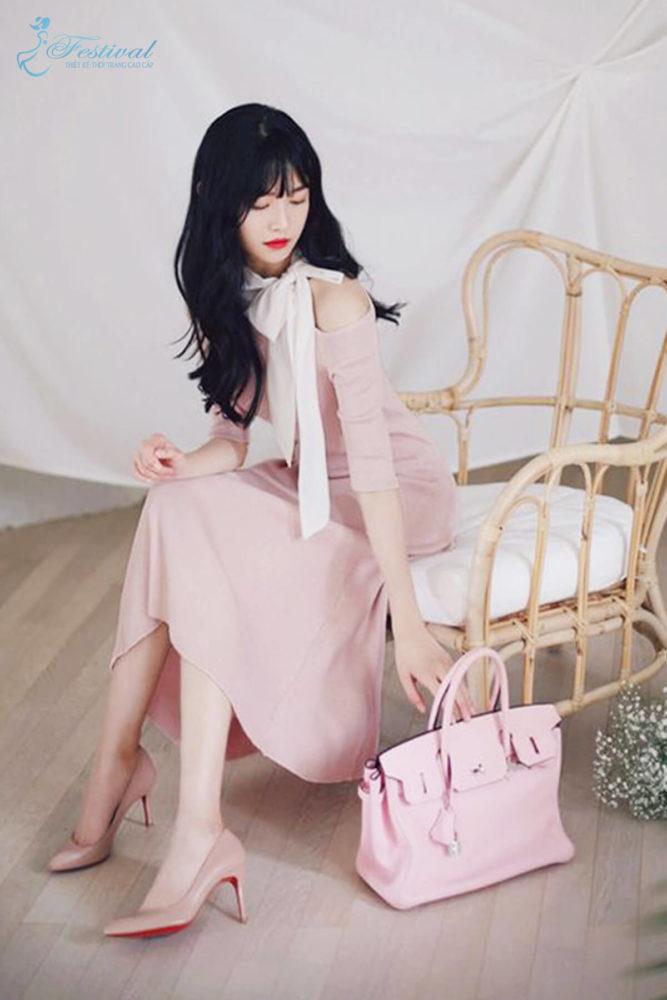 Những kiểu váy hồng nữ tính, ngọt ngào cho phái đẹp - Ảnh 3