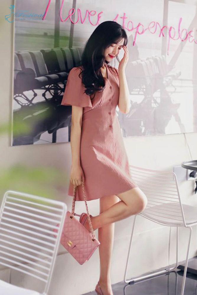 Những kiểu váy hồng nữ tính, ngọt ngào cho phái đẹp - Ảnh 4