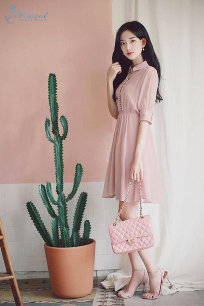 Những kiểu váy hồng nữ tính, ngọt ngào cho phái đẹp - Ảnh 6
