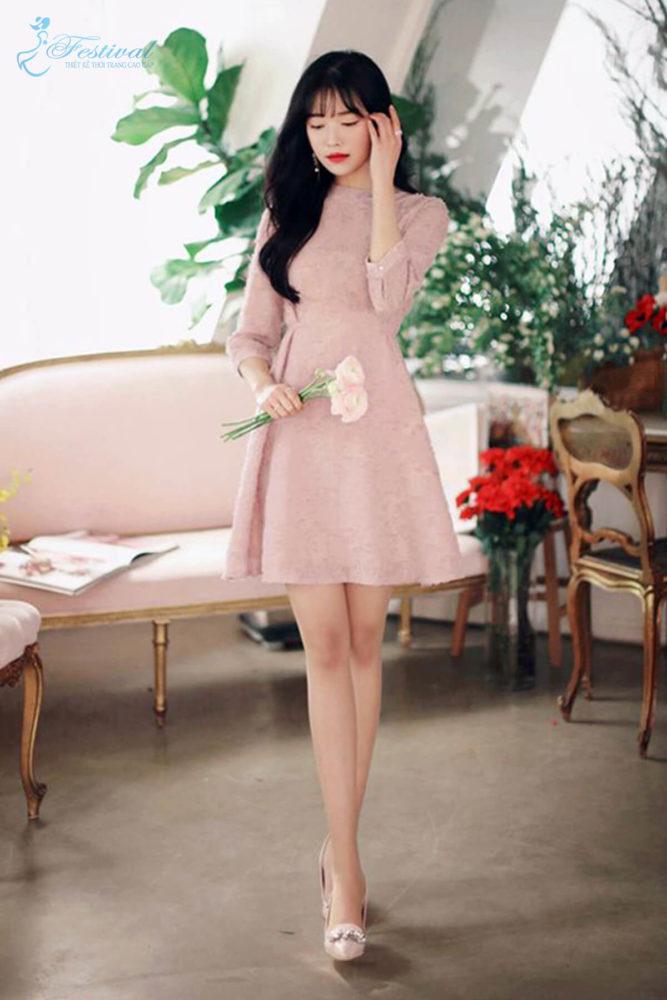Những kiểu váy hồng nữ tính, ngọt ngào cho phái đẹp - Ảnh 7
