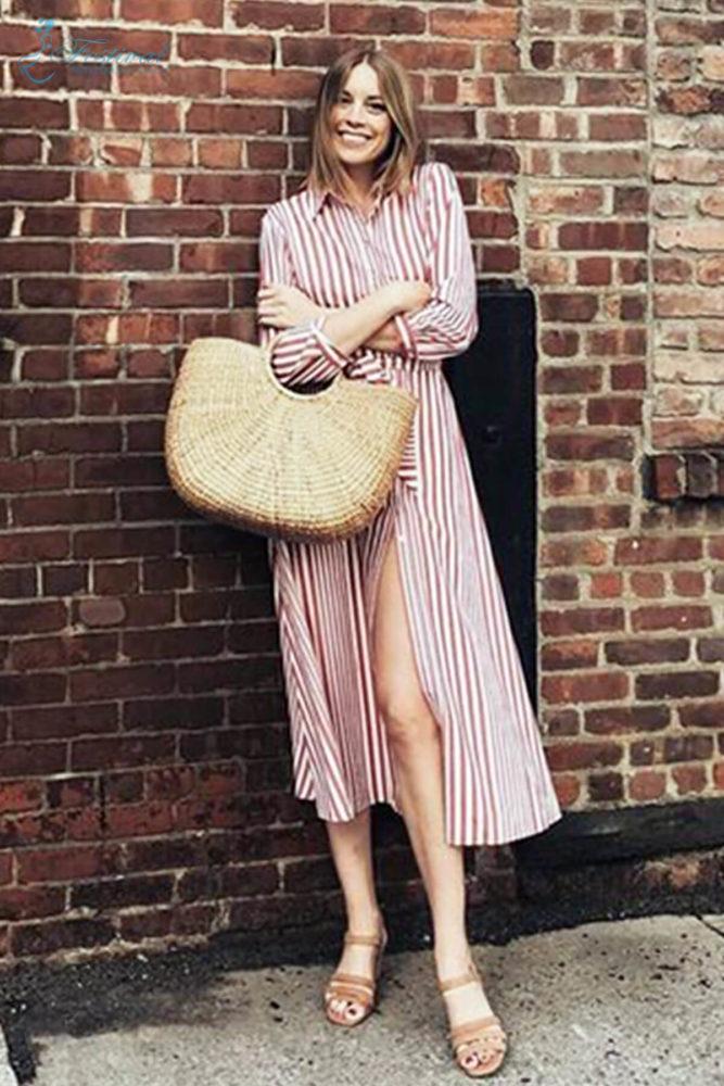 Những kiểu váy sơ mi dáng rộng mặc vào cuối tuần - Ảnh 4