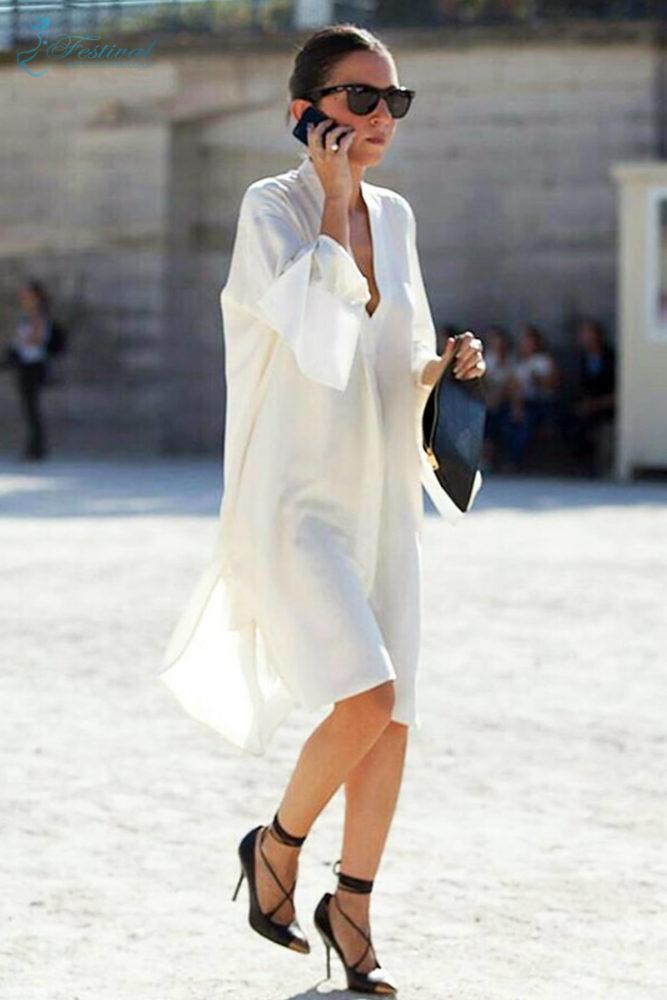 Những kiểu váy sơ mi dáng rộng mặc vào cuối tuần - Ảnh 5