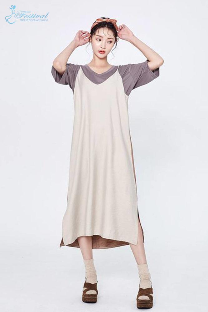 Phối đồ với váy hai dây phù hợp với mùa thu - Ảnh 9