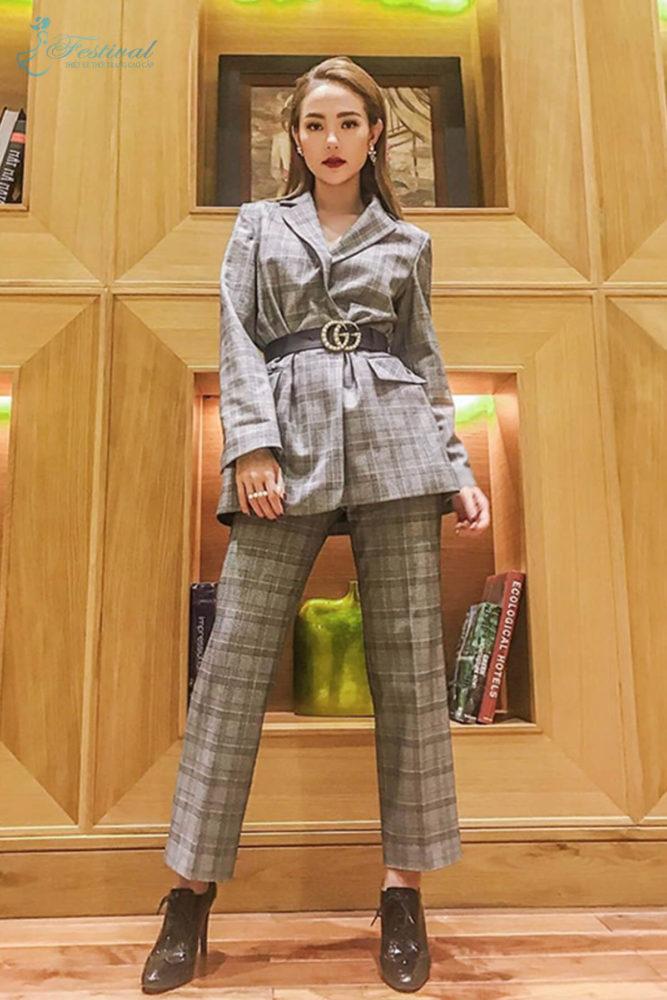 Suit phối vest hiện đại - Ảnh 2 - Thời trang dạo phố thu đông 2018