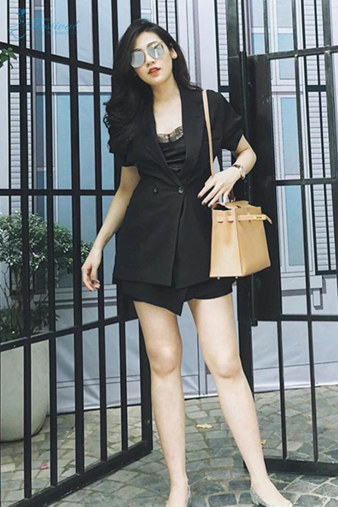 Suit phối vest hiện đại - Ảnh 4 - Thời trang dạo phố thu đông 2018