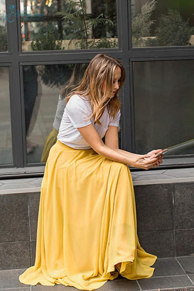 Trang phục mùa thu: Sắc vàng được phái nữ yêu chuộng - Ảnh 1