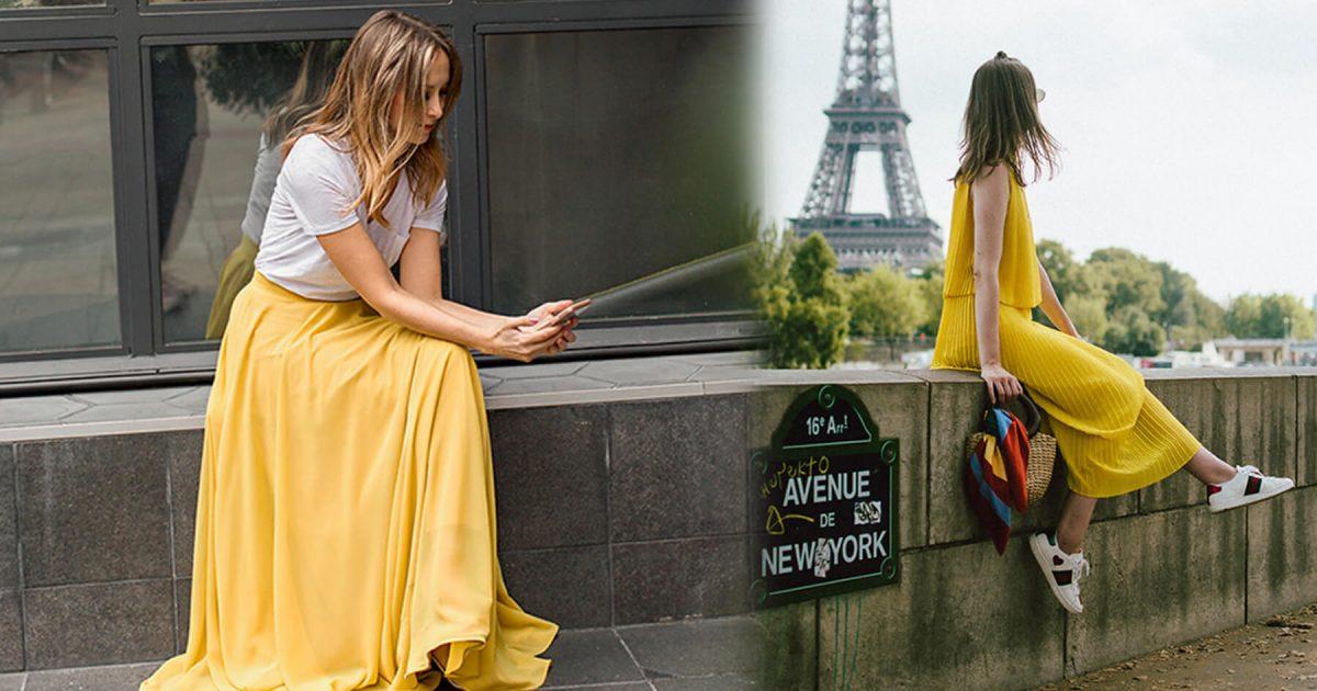 Trang phục mùa thu: Sắc vàng được phái nữ yêu chuộng