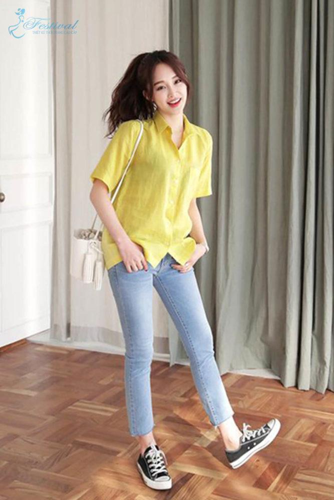 Trang phục mùa thu: Sắc vàng được phái nữ yêu chuộng - Ảnh 3