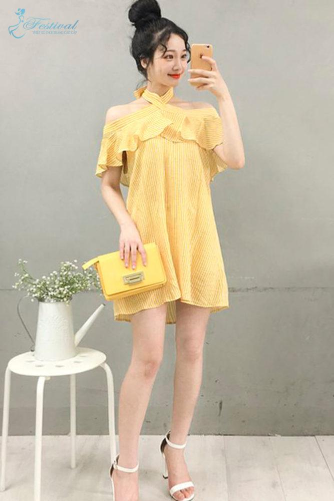 Trang phục mùa thu: Sắc vàng được phái nữ yêu chuộng - Ảnh 4