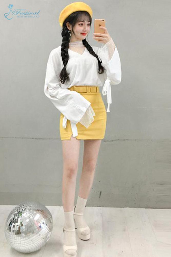 Trang phục mùa thu: Sắc vàng được phái nữ yêu chuộng - Ảnh 5