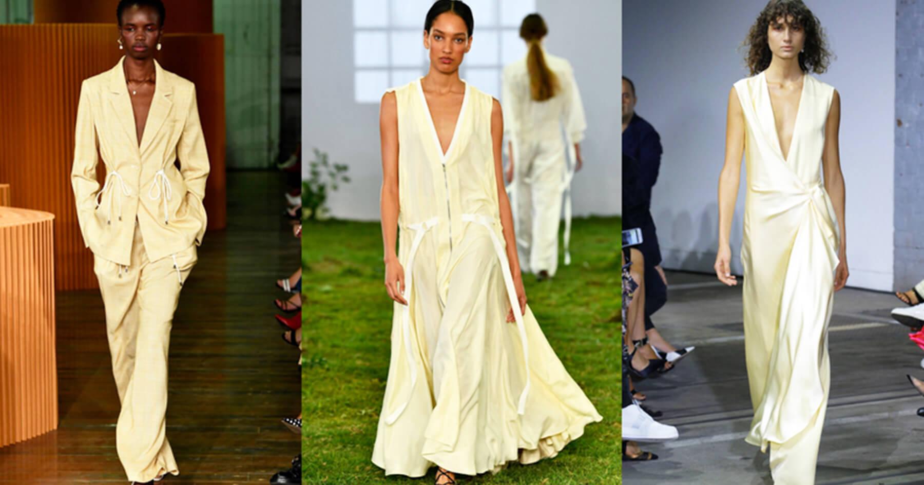 Vàng Buttermilk - Xu hướng sắc màu thời trang 2019