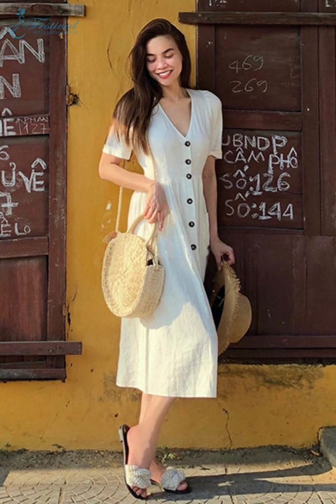 Váy trắng cổ điển - Ảnh 1 - Thời trang dạo phố thu đông 2018