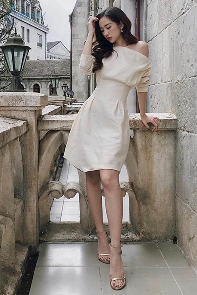 Váy trắng cổ điển - Ảnh 2 - Thời trang dạo phố thu đông 2018
