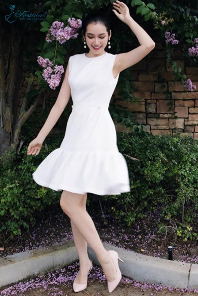 Váy trắng cổ điển - Ảnh 4 - Thời trang dạo phố thu đông 2018