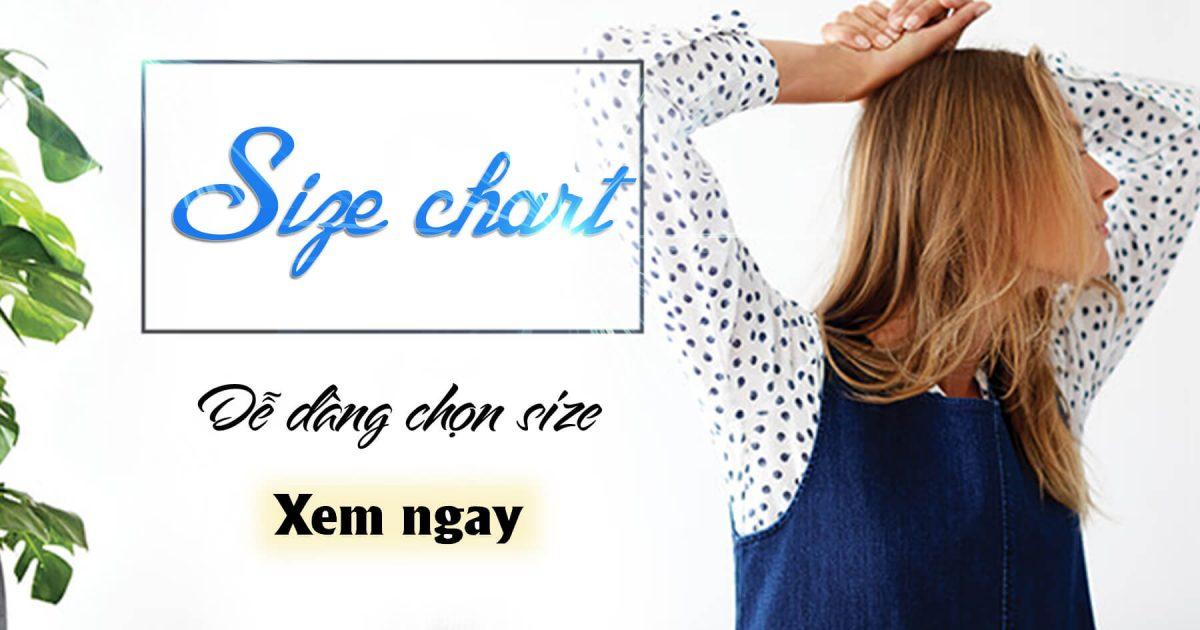 Size chart đầm nữ chuẩn - Hướng dẫn chọn size đầm phù hợp
