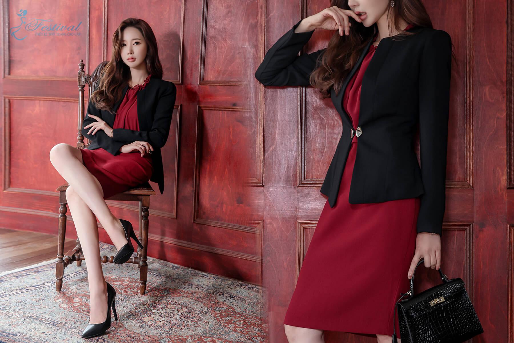 Đầm công sở dáng suông - Xu hướng đầm công sở 2018 - 2019