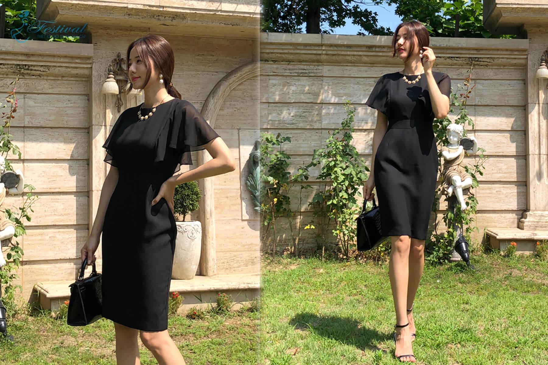 Đầm công sở phối voan - Xu hướng đầm công sở 2018 - 2019