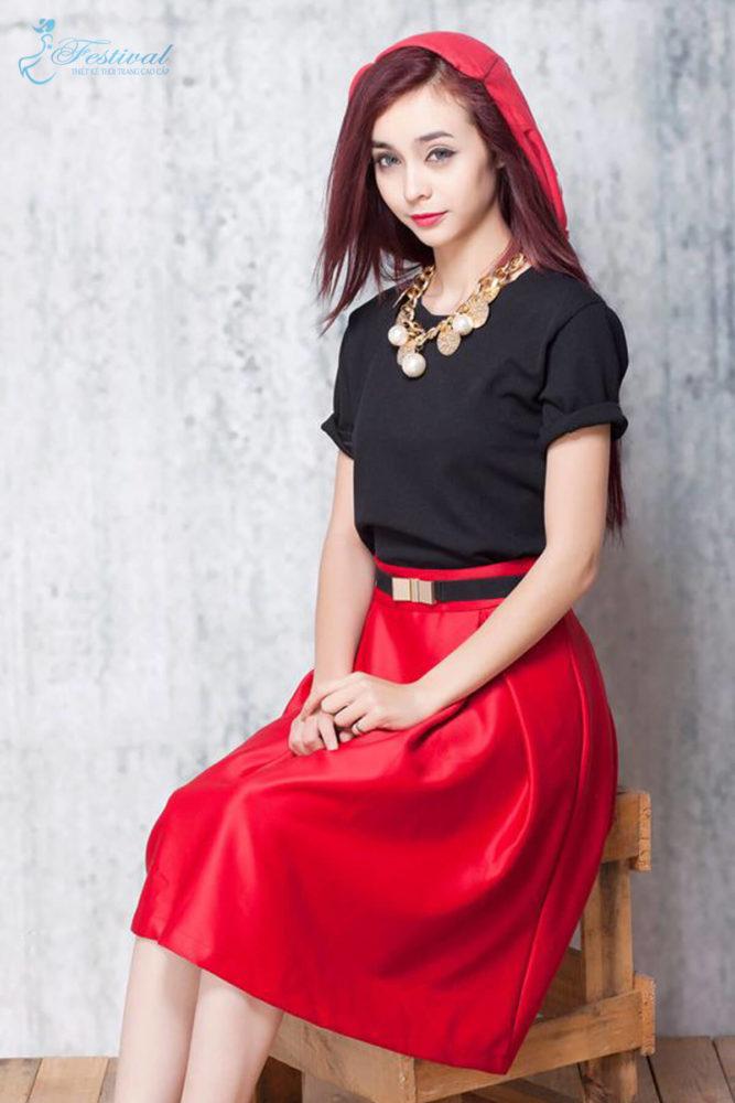 Váy đỏ - Ảnh 1 - Thời trang Halloween 2018: Đơn giản nhưng ấn tượng