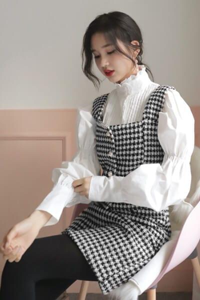 Layer váy liền và áo - Ảnh 1 - 3 ngày Tết, các nàng cứ mặc 6 combo này là đảm bảo xinh lung linh