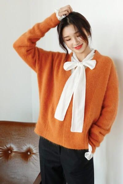 Layer áo len/áo nỉ và áo điệu - Ảnh 6 - 3 ngày Tết, các nàng cứ mặc 6 combo này là đảm bảo xinh lung linh