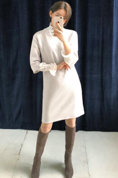 Váy liền + boots - Ảnh 2 - 3 ngày Tết, các nàng cứ mặc 6 combo này là đảm bảo xinh lung linh