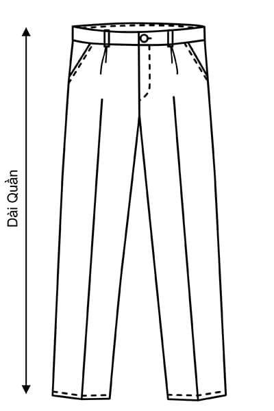 Chiều dài quần - Hướng dẫn lấy số đo quần