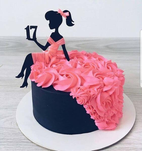 Bánh sinh nhật hình cô gái mặc đầm cưới - Thích thú với những mẫu bánh sinh nhật của tín đồ thời trang