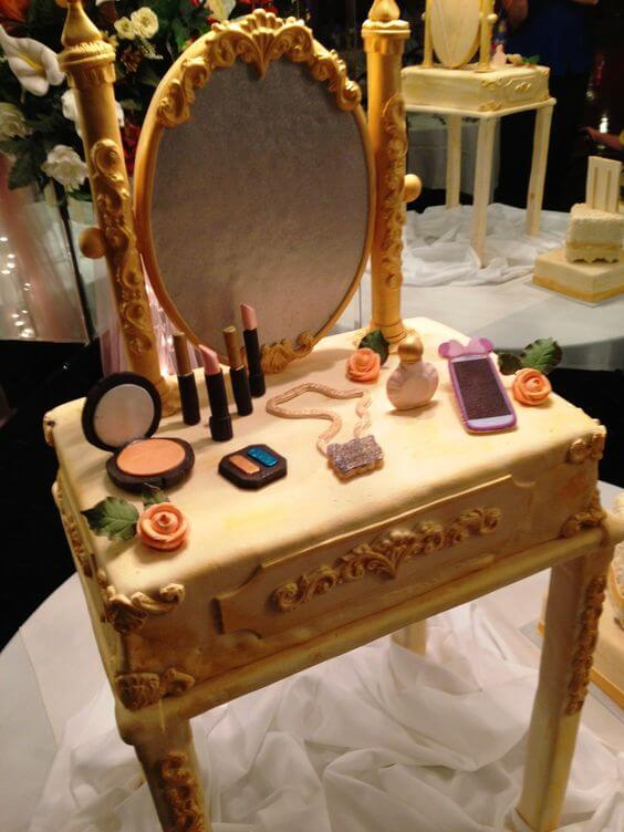 Bánh sinh nhật hình dụng cụ làm đẹp của chị em phụ nữ - Ảnh 1 - Thích thú với những mẫu bánh sinh nhật của tín đồ thời trang