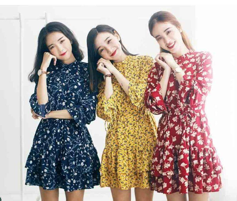 Váy hoa đón tết - Mốt thời trang diện Tết 2019 cho giới trẻ [Nam và Nữ]