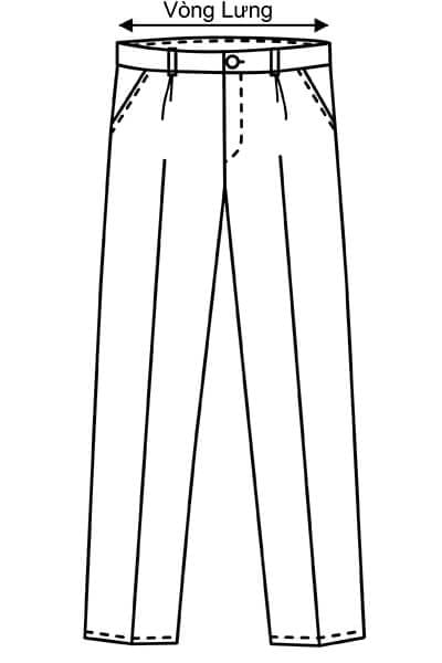 Vòng lưng - Hướng dẫn lấy số đo quần