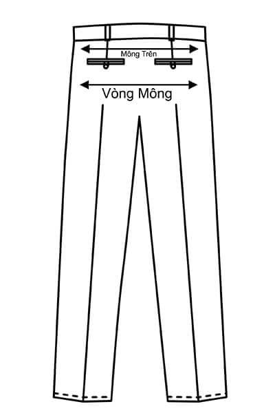 Vòng mông - Hướng dẫn lấy số đo quần