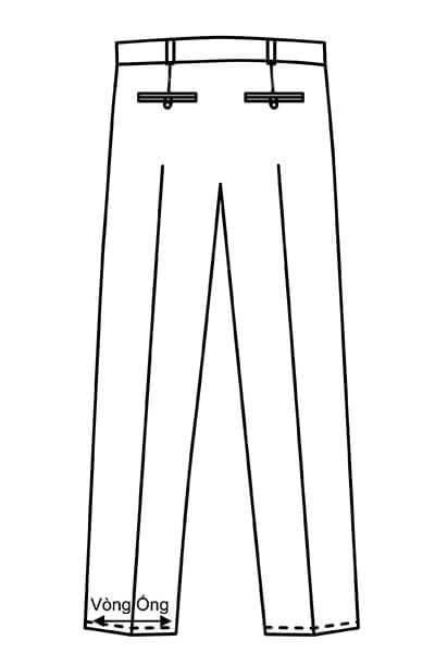 Vòng ống - Hướng dẫn lấy số đo quần