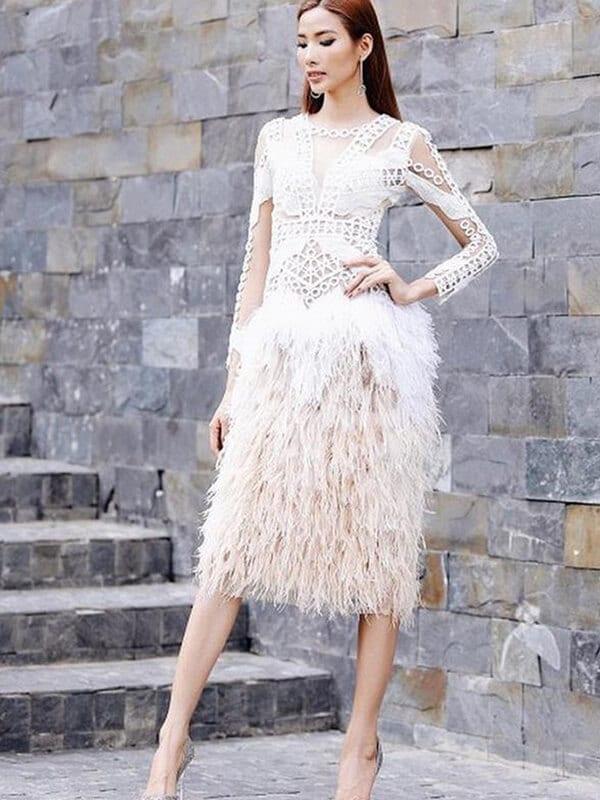 Đầm sợi tua rua - Ảnh 8 - Đầm tua rua, váy công chúa - Hai 'vũ khí' lợi hại của sao Việt