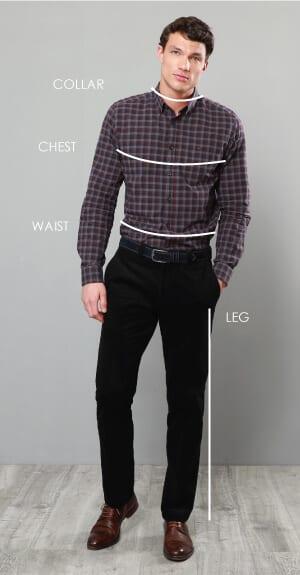 Hướng dẫn cách lấy số đo quần áo nam