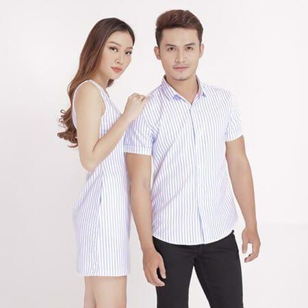 Thời trang sơ mi cặp đôi - Ảnh 1 - Couple TX – Tổng hợp những kiểu thời trang dành cho cặp đôi