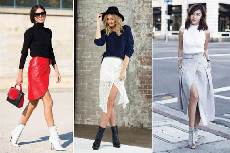 Váy bất cân xứng + giày cao gót - 15 cách phối đồ cho người lùn mập trở nên 'THON GỌN'