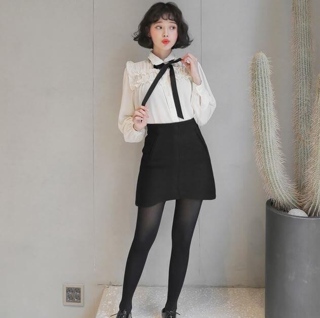Chân váy dáng chữ A - Váy cho người thấp và chân to - 15 cách phối đồ cho người lùn mập trở nên 'THON GỌN'