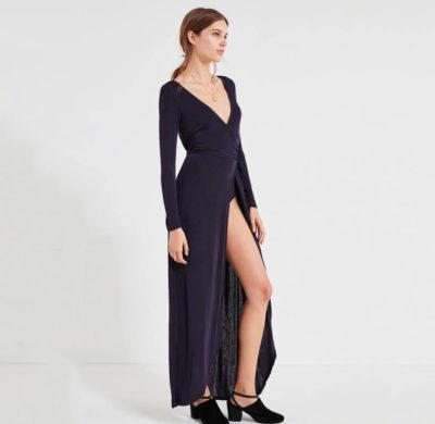 Váy bất cân xứng + giày cao gót
