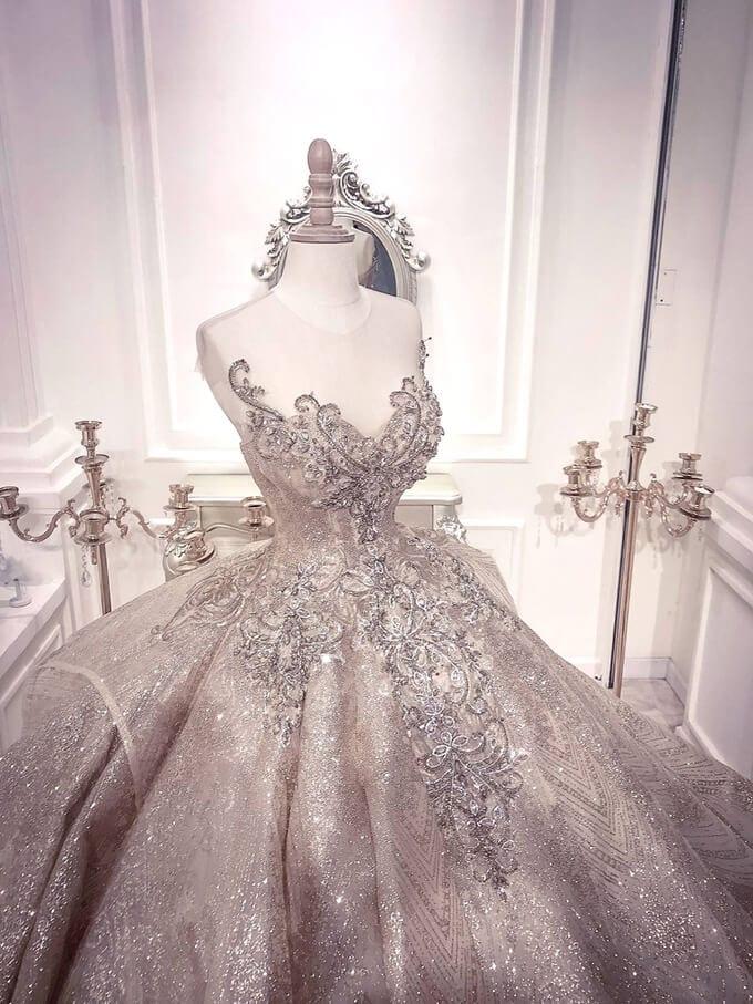 Kiểu thiết kế đầm cưới xòe phồng - Ảnh 2
