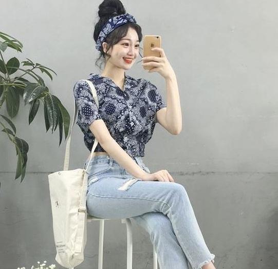 Dáng croptop - 36+ Kiểu áo sơ mi nữ dễ thương diện nơi công sở, đi học, đi làm...