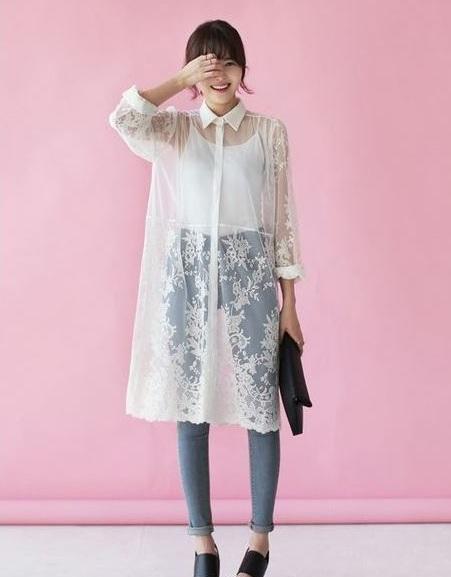 Ren xuyên thấu - 36+ Kiểu áo sơ mi nữ dễ thương diện nơi công sở, đi học, đi làm...