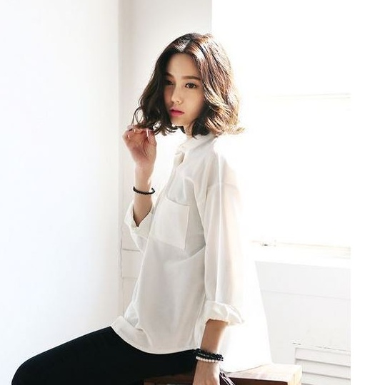 Dáng oversize - 36+ Kiểu áo sơ mi nữ dễ thương diện nơi công sở, đi học, đi làm...