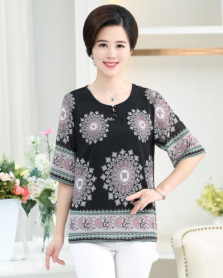 10+ Mẫu áo sơ mi nữ tuổi trung niên được yêu thích nhất 2019 - Ảnh 3